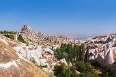 Uchisar Cave City In Cappadocia Turkey