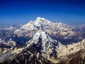 Aerial View Of The K2 Peak The 2nd Highest Mountains On The Earth poster