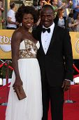 LOS ANGELES - JAN 29:  Viola Davis and Julius Tennon arrives at the 18th Annual Screen Actors Guild