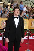 LOS ANGELES - JAN 29:  Cory Monteith arrives at the 18th Annual Screen Actors Guild Awards at Shrine