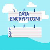 Handwriting Text Writing Data Encryption. Concept Meaning Another Form Code That Only Showing With A poster