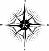 picture of compass rose  - An illustrations of a nautically themed compass - JPG