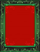 Beautiful Green and Red Frame!