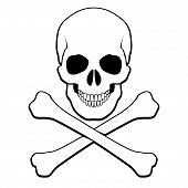 stock photo of skull crossbones  - Skull and crossbones - JPG
