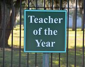 Teacher of the Year parking space