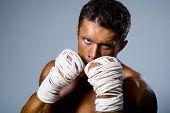 Kick-boxer Training Before Fight