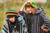 Young rastafarian people on nature