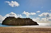 View of St Catherines Island,from Castle Beach, Tenby.