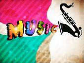 Fundo Musical retrô. EPS 10.
