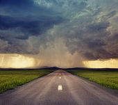 the road to storm ( photo compilation. The grain and texture added. )