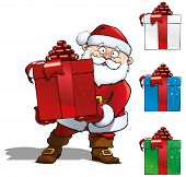 Santa With Big Gift.eps