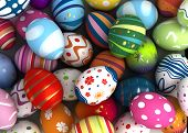 stock photo of computer-generated  - Background with Easter Eggs  - JPG