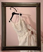 Wedding Dress And Frame