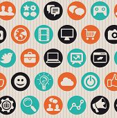Seamless Pattern With Internet Icons
