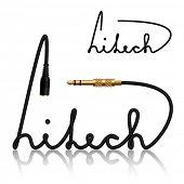 Vector jack conectores hitech caligrafía