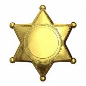 Golden Sheriff's Badge