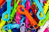 Multi Colored Key Rings