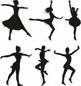 dance silhouette - woman
