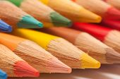 Two Rows Of Coloring Pencils
