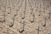 Crosses On The Beach