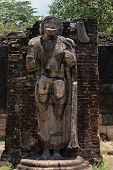 Statue In Ancient Temple, Polonnaruwa, Sri Lanka.