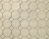 stock photo of octagon shape  - the brick octagonal walkway pavement texture background - JPG
