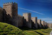 Avila, Spain, Wall And Towers