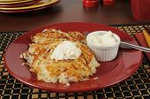 Latkes And Sour Cream