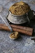 stock photo of garam masala  - Indian mix of ground spices garam masala