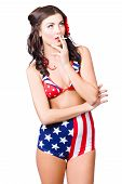Beautiful American Military Pin Up Girl