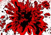 foto of mayhem  - Blood splatter background red and black on white - JPG