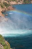 Waterfall - Rainbow -  Sea