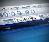 Interest Rates Concept.