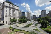City hall building in downtown Sao Paulo Brazil.