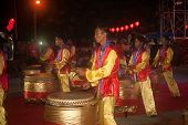 Drum Dancing In Chinese New Year.
