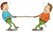 foto of tug-of-war  - Illustration of two men doing Tug Of War - JPG