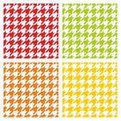 Houndstooth seamless vector pattern set. Traditional dogtooth tartan tweed collection
