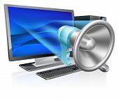 Computer Megaphone Concept