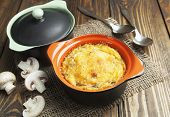 Mushroom Casserole In The Pot