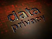 Privacy concept: Data Privacy on digital screen background