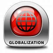 globalization global open market international worldwide trade and economy red icon