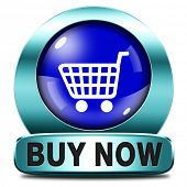 buy now and here blue metal icon or button online sales sell on internet shop online shop buy and ad