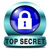 top secret icon confidential and classified personal information private property sign or button