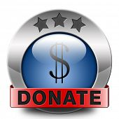 donate icon and give to charity help fund raising give and raise money donation financial support