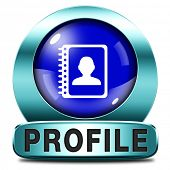 picture of avatar  - Profile personal information and bio info or data icon or button your avatar - JPG