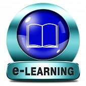 e-learning online internet learning in open school or university virtual education elearning icon button or sign
