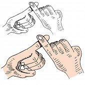 stock photo of pinky  - An image of a pinky swear handshake - JPG
