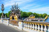 Pont Alexandre III spans the Seine