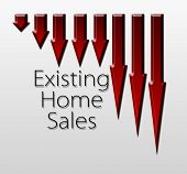 Chart Illustrating Existing Home Sales Drop