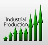 stock photo of macroeconomics  - Chart illustrating industrial production growth macroeconomic indicator concept - JPG